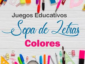 Sopa de letras de colores